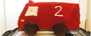 Ethans fire engine cake slider